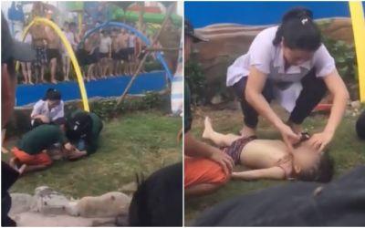 Xót xa bé trai 3 tuổi tử vong ở công viên nước Thanh Hà